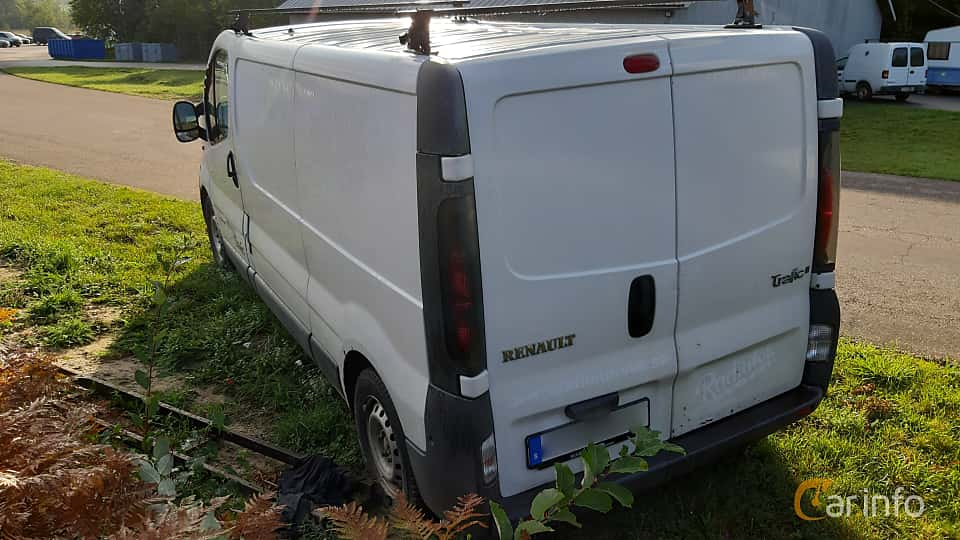 Back/Side of Renault Trafic Van 1.9 dCi Manual, 101ps, 2005