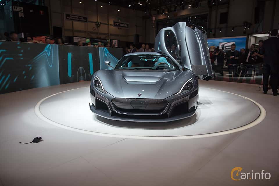Front  of Rimac C_Two 120 kWh IWD Single Speed, 1914ps, 2018 at Geneva Motor Show 2018