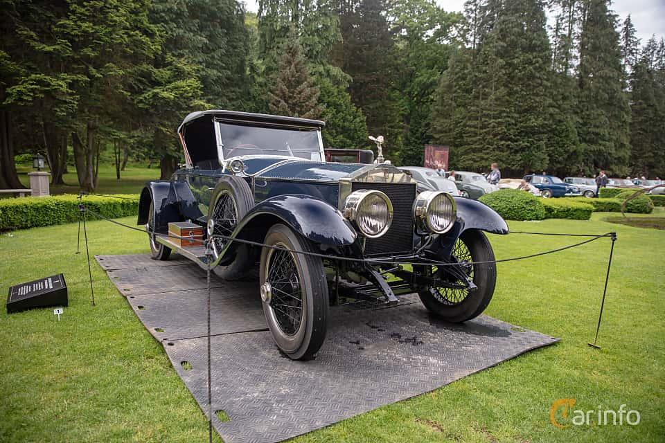 Front/Side  of Rolls-Royce Silver Ghost Roadster 7.4 Manual, 76ps, 1922 at Rolls-Royce och Bentley, Norrviken Båstad 2019