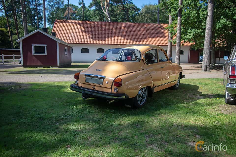 Back/Side of Saab 96 1.5 V4 Manual, 65ps, 1975 at Lergöksträffen Ängelholm 2019