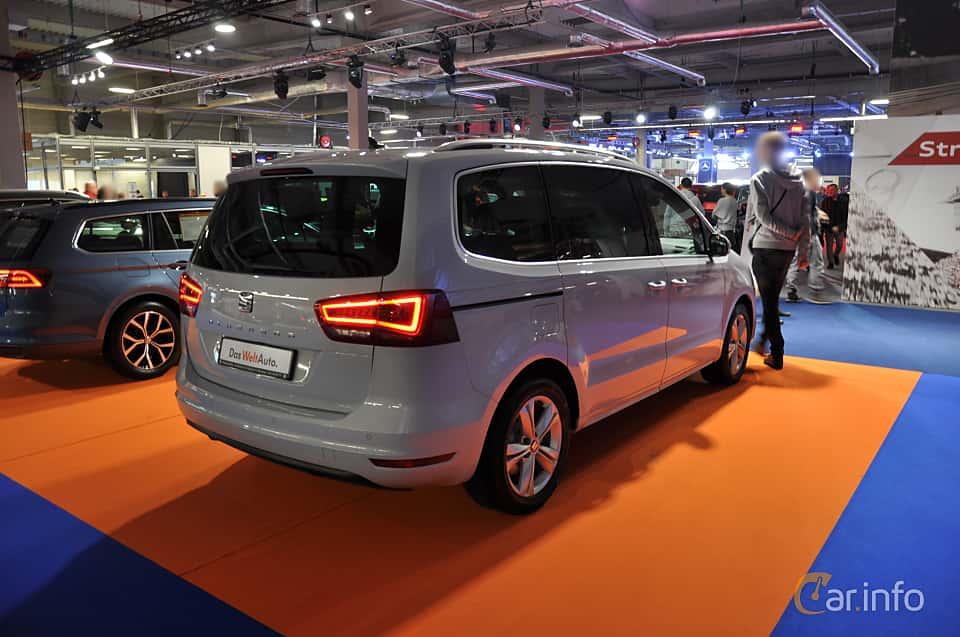 Back/Side of SEAT Alhambra 2018 at Warsawa Motorshow 2018