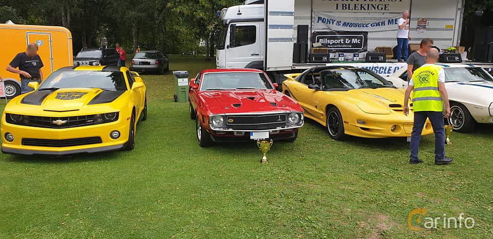 Front  of Shelby GT 350 5.8 V8 Manual, 294ps, 1970 at Pony & Muscle Car Meet Ronneby 2019