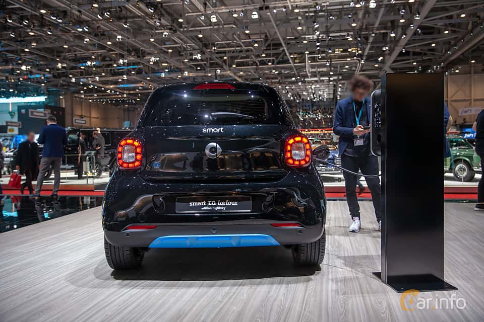 Back of Smart forfour electric drive 17.6 kWh Single Speed, 82ps, 2019 at Geneva Motor Show 2019