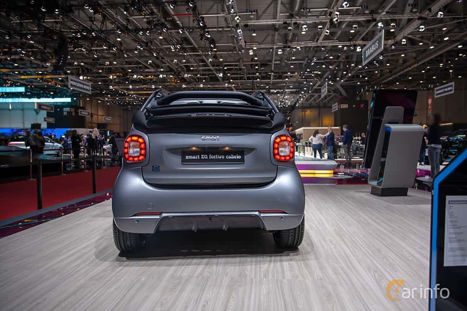 Back of Smart fortwo electric drive cabrio 17.6 kWh Single Speed, 82ps, 2019 at Geneva Motor Show 2019