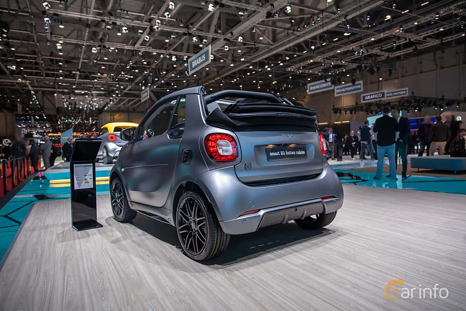 Back/Side of Smart fortwo electric drive cabrio 17.6 kWh Single Speed, 82ps, 2019 at Geneva Motor Show 2019