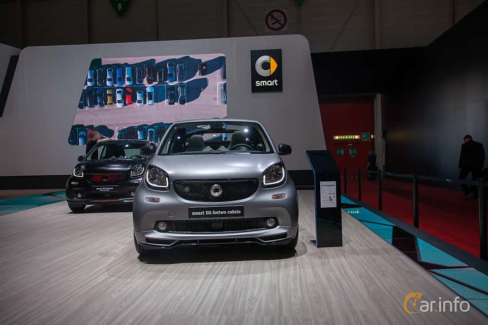 Front  of Smart fortwo electric drive cabrio 17.6 kWh Single Speed, 82ps, 2019 at Geneva Motor Show 2019