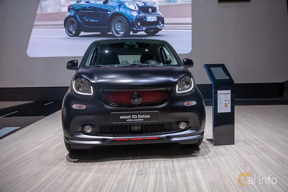 Front  of Smart fortwo electric drive 17.6 kWh Single Speed, 82ps, 2019 at Geneva Motor Show 2019