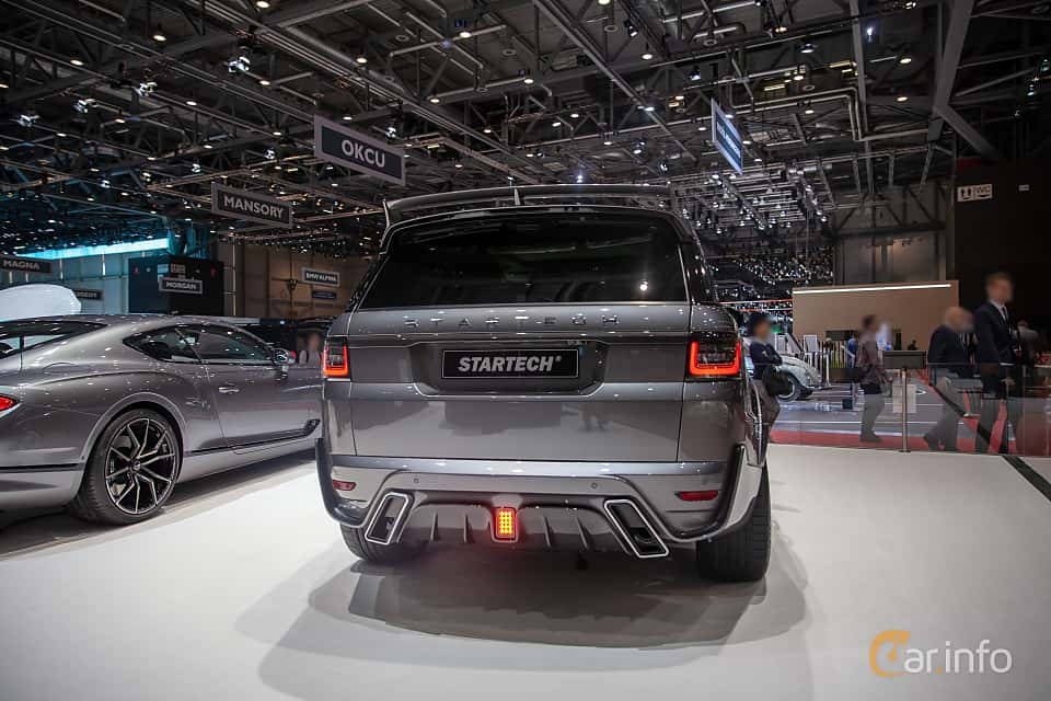 Back/Side of STARTECH Range Rover Sport 5.0 V8 4WD Automatic, 525ps, 2019 at Geneva Motor Show 2019
