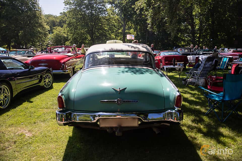 Back of Studebaker Champion 4-door Sedan 3.0 Manual, 102ps, 1955 at Sofiero Classic 2017