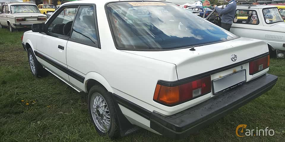 Back/Side of Subaru Leone Coupé 1.8 4WD Automatic, 98ps, 1986 at Old Car Land no.1 2019