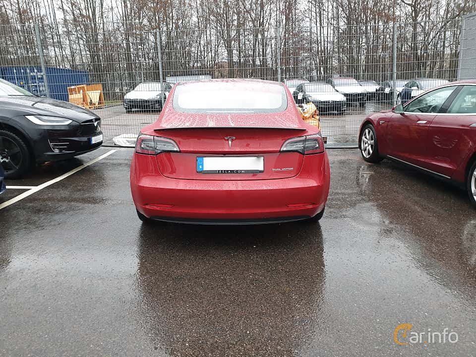 Bak av Tesla Model 3 Performance 75 kWh Single Speed, 462ps, 2019