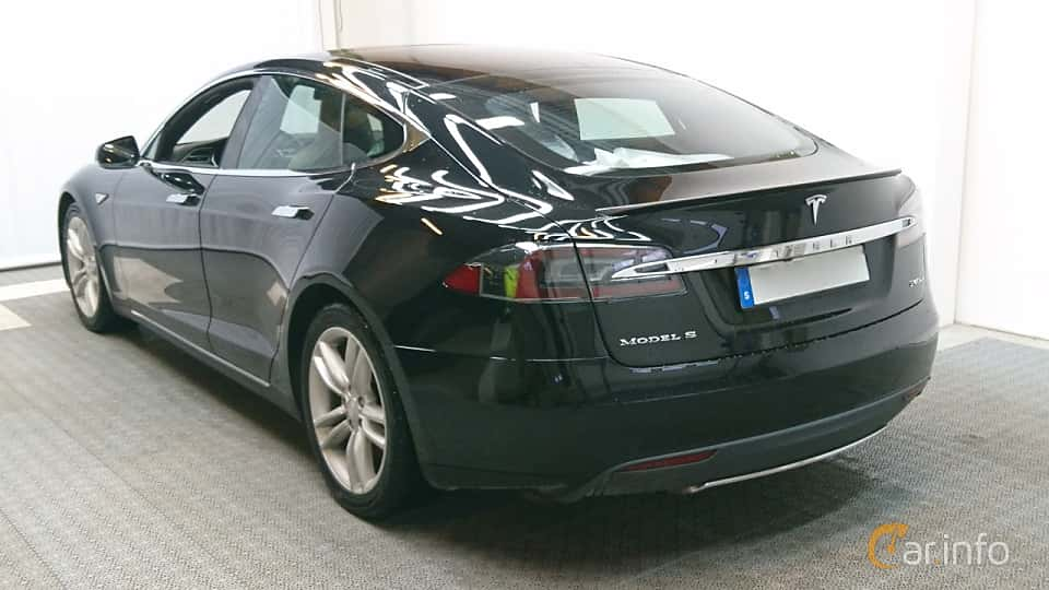 Back/Side of Tesla Model S P85D 85 kWh AWD Single Speed, 511ps, 2015
