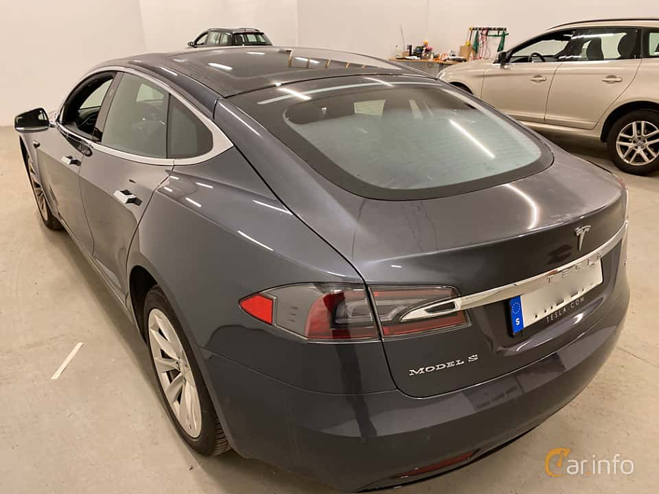 Bak/Sida av Tesla Model S 90D 90 kWh AWD Single Speed, 423ps, 2017