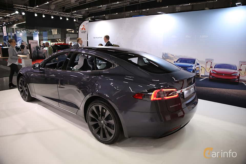 Back/Side of Tesla Model S 100D 100 kWh AWD Single Speed, 423ps, 2018 at eCar Expo Göteborg 2018