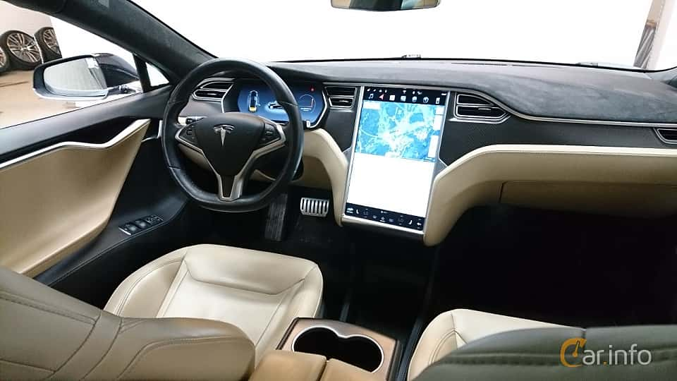 Interiör av Tesla Model S P85D 85 kWh AWD Single Speed, 511ps, 2015