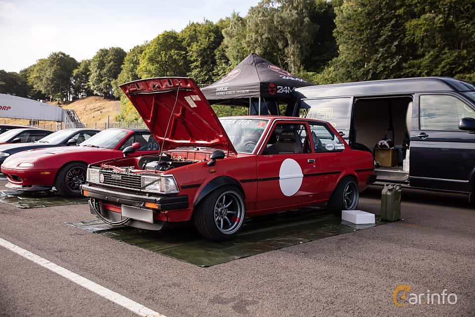 Fram/Sida av Toyota Corolla 2-door Sedan 1.3 Manual, 60ps, 1982 på JapTuning Trackday 2018 Knutstorp