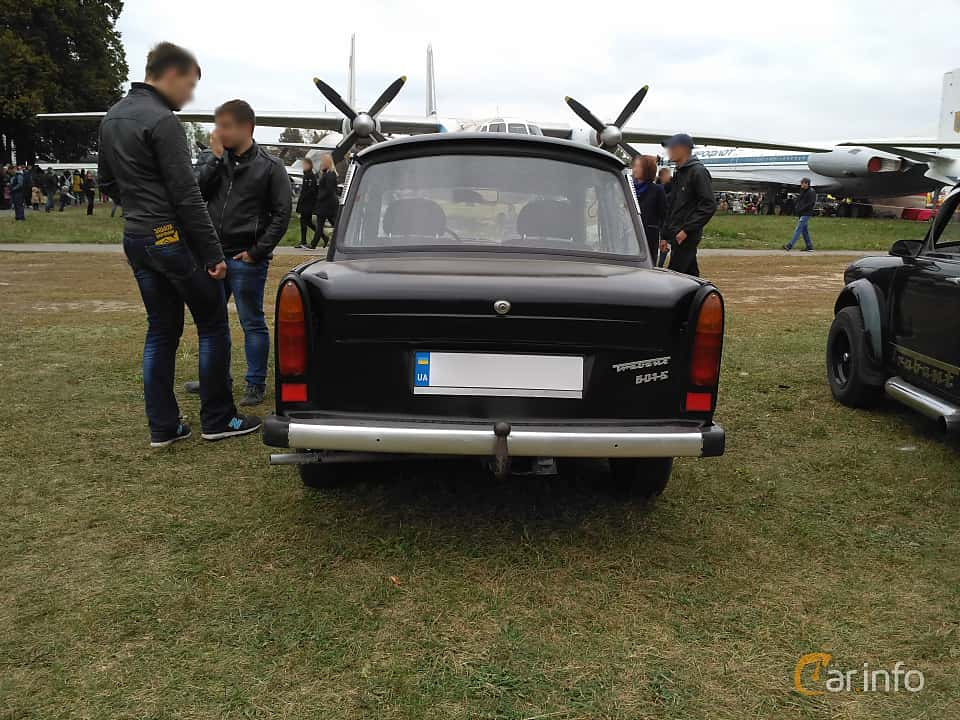 Back of Trabant 601 Limousine 0.6 Manual, 26ps, 1987