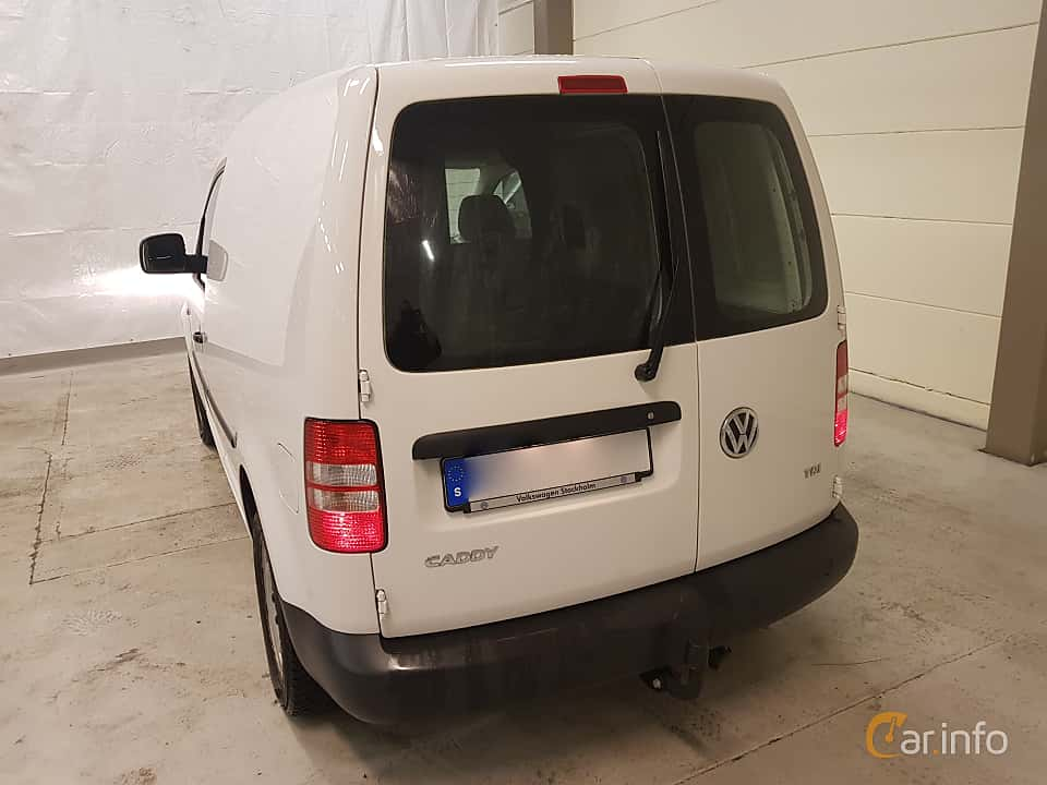 Back/Side of Volkswagen Caddy Panel Van 1.6 TDI Manual, 75ps, 2015