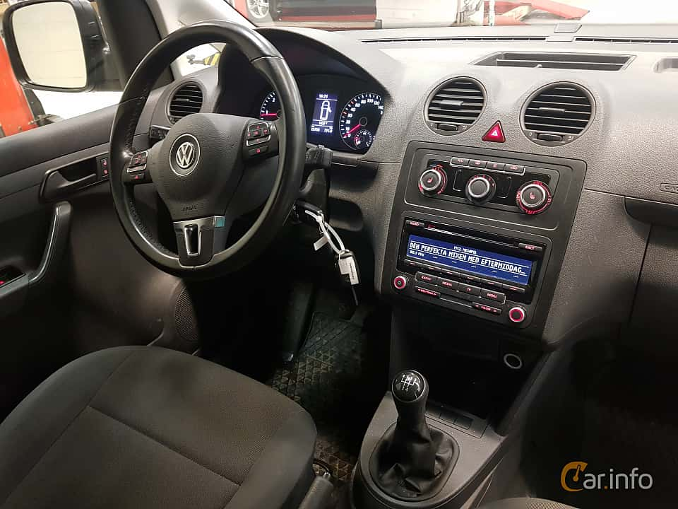 Interior of Volkswagen Caddy Panel Van 1.6 TDI Manual, 75ps, 2015