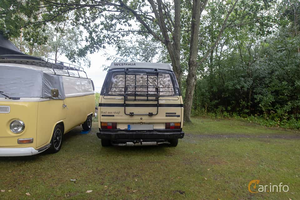 Back of Volkswagen California 1.6 D Manual, 50ps, 1983 at West Coast Bug Meet 2019