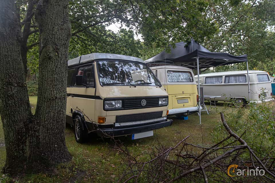 Front/Side  of Volkswagen California 1.6 D Manual, 50ps, 1983 at West Coast Bug Meet 2019