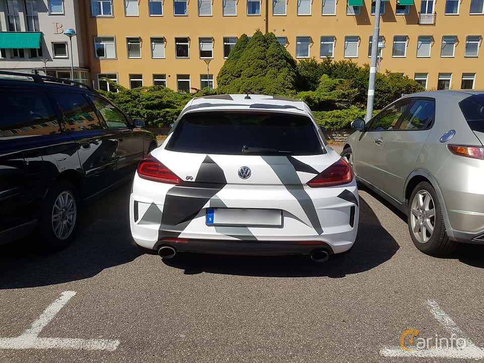 Back of Volkswagen Scirocco R 2.0 TSI  DSG Sequential, 280ps, 2016