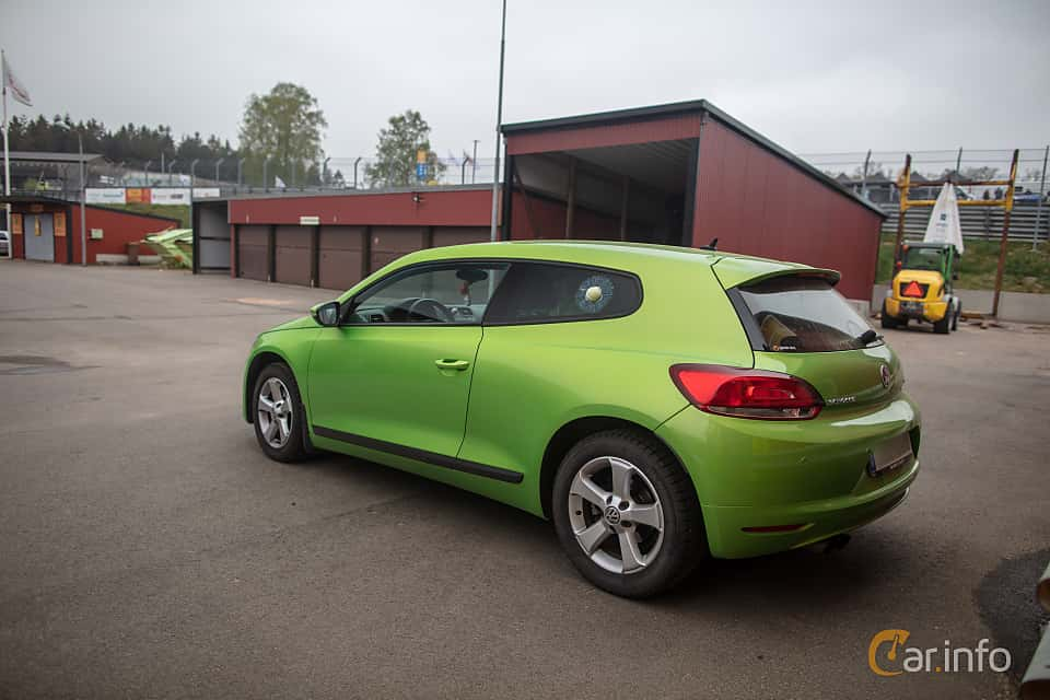 Back/Side of Volkswagen Scirocco 1.4 TSI Manual, 160ps, 2010 at Lucys motorfest 2019