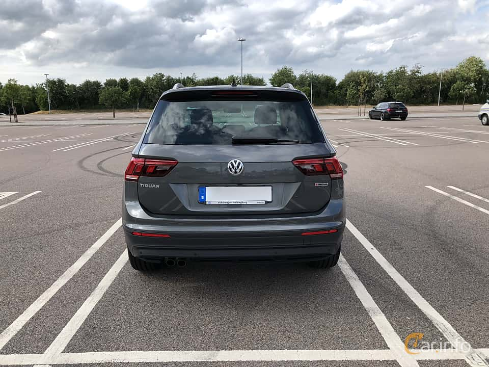Back of Volkswagen Tiguan 1.4 TSI BlueMotion 4Motion DSG Sequential, 150ps, 2018