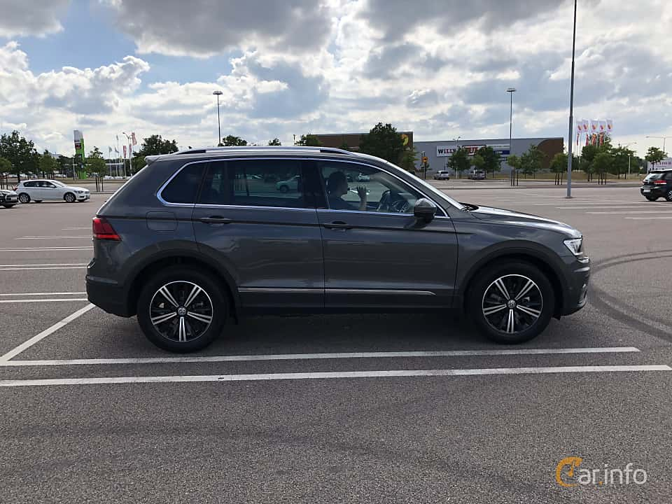 Side  of Volkswagen Tiguan 1.4 TSI BlueMotion 4Motion DSG Sequential, 150ps, 2018