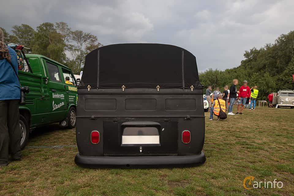 Back of Volkswagen Transporter 1500 Pickup 1.5 Manual, 44ps, 1966 at West Coast Bug Meet 2019