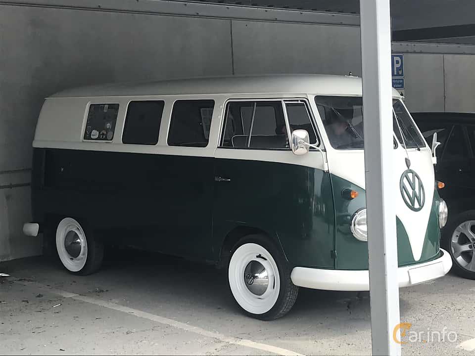 Front/Side  of Volkswagen Transporter 1200 Minibus 1.2 Manual, 34ps, 1962