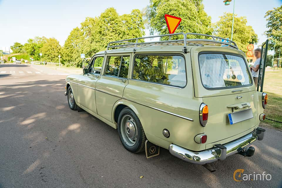 Back/Side of Volvo Amazon 221 P220 1.8 Manual, 68ps, 1964 at Ronneby Nostalgia Festival 2019