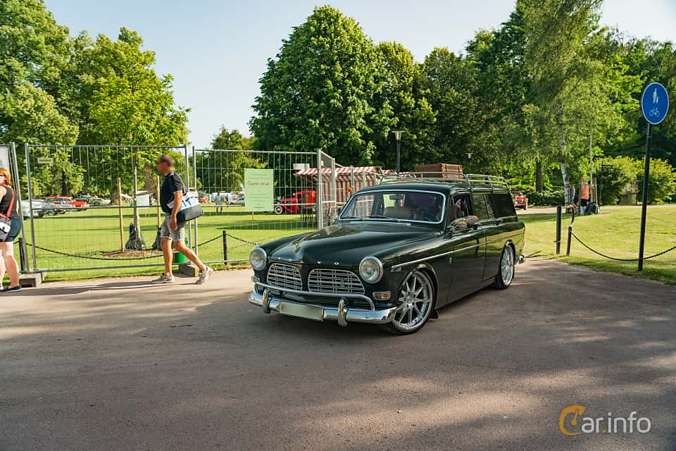 Front/Side  of Volvo Amazon 121 P220 2.0 Manual, 82ps, 1969 at Ronneby Nostalgia Festival 2019