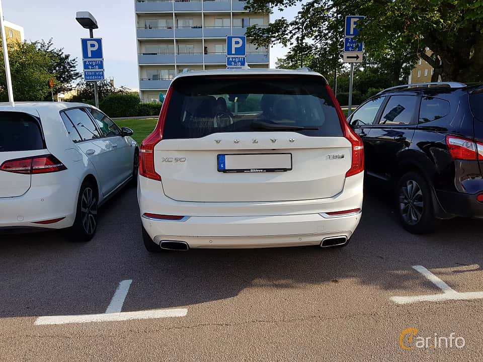 Back of Volvo XC90 2.0 T8 AWD Geartronic, 407ps, 2016
