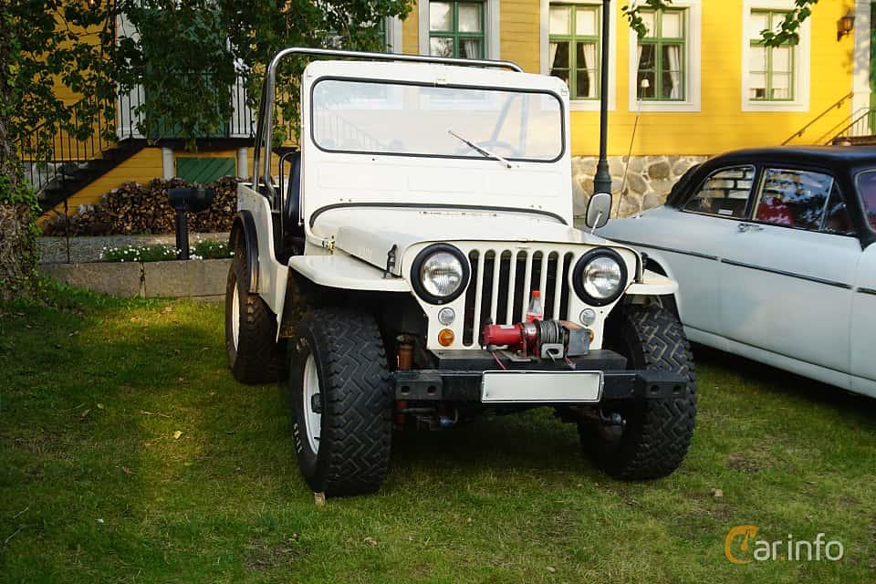 Front/Side  of Willys CJ 2.2 Manual, 63ps, 1947 at Onsdagsträffar på Gammlia Umeå 2019 vecka 35